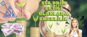 SSK Prim Eksiği Olanlara Emeklilik
