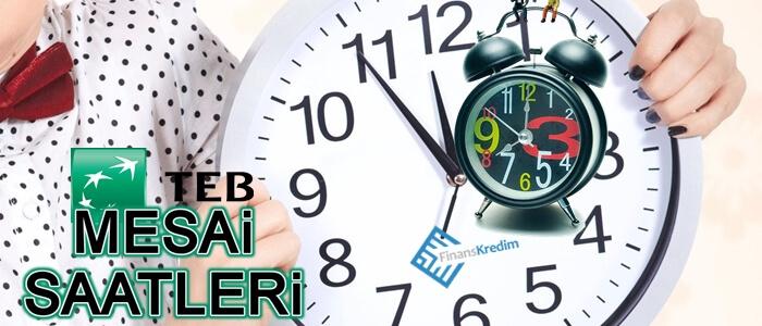Türkiye Ekonomi Bankası Mesai Saatleri